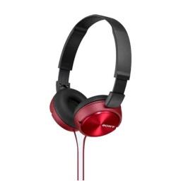 Auricular Vincha Jack 3.5 Mdr-Zx310Ap Con Microfono Rojo