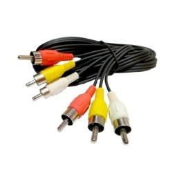 Cable Audio Auxiliar 3 A 3 Rca 10Mts
