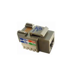 Conector Utp Hembra Cat 5E Gris