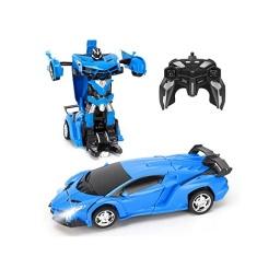 Auto Transformer A Control Remoto Azul