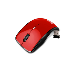 Mouse Kurve Inalambrico Klip Rojo Kmo-375Rd