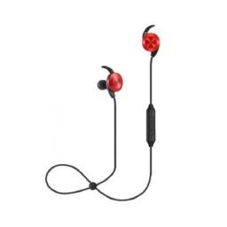 Auricular Inear Bluetooth Hyunai Tornado Rojo Con Microfono