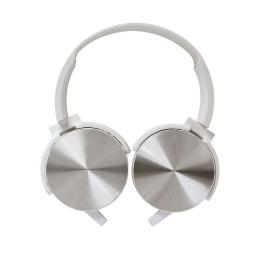 Auricular Vincha Jack 3.5 Ledstar La450 Con Microfono Blanco