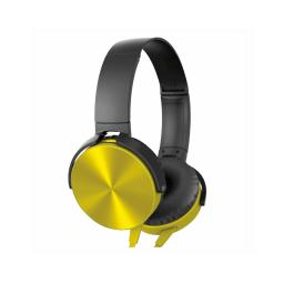 Auricular Vincha Jack 3.5 Ledstar La450 Con Microfono Dorado