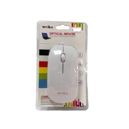 Mouse Cableado Ledstar Fc-5084Usb Blanco