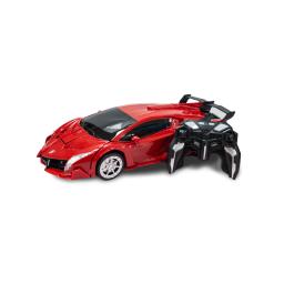 Auto Transformer Grande A Control Remoto Rojo
