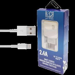 Cargador Inteligente Doble Puerto Lightning Usb 2.4A Rc-Tc-S