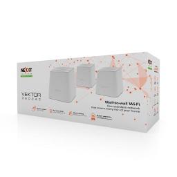 Sistema Wi-Fi Mesh Nexxt Vektor 3600Ac (Pack-3 Unidades)