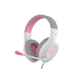 Auricular Vincha C/mic. Meetion Gaming Mt-Hp021 W/pink