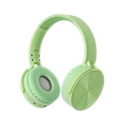 Auricular Vincha Bluetooth/microsd Ledstar Stn-36 / Verde