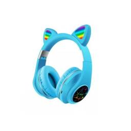 Auricular Vincha Bluetooth Ear-Cat Ledstar M2  Azul