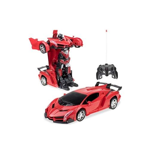 Auto Transformer A Control Remoto Rojo