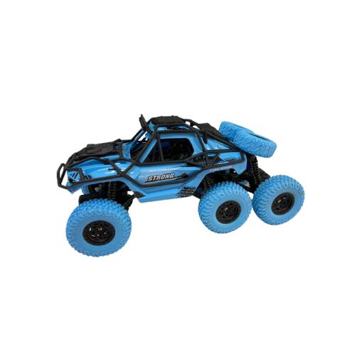 Vehiculo A Radio Control 6X6 Escala 1:18 Azul