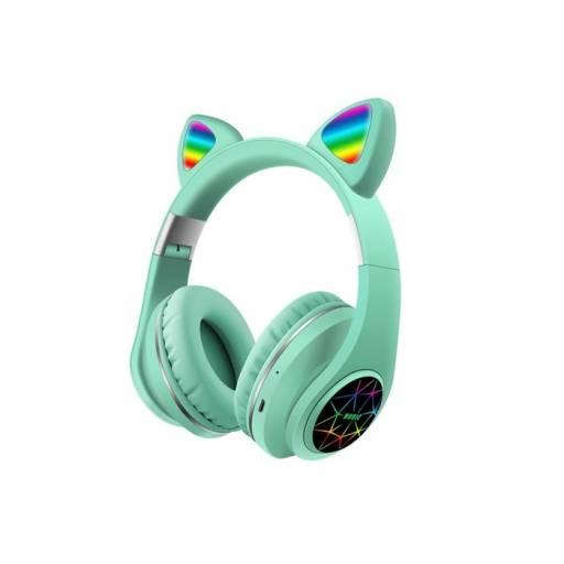 Auricular Vincha Bluetooth Ear-Cat Ledstar M2 / Verde