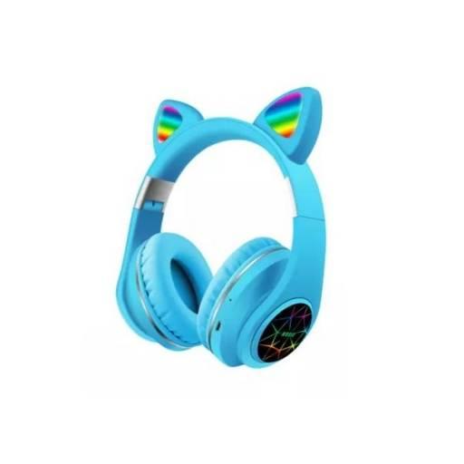 Auricular Vincha Bluetooth Ear-Cat Ledstar M2 / Azul