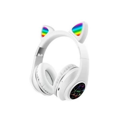 Auricular Vincha Bluetooth Ear-Cat Ledstar M2 / Blanco
