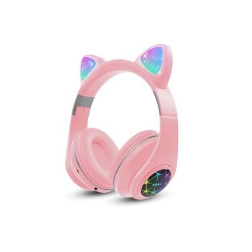Auricular Vincha Bluetooth Ear-Cat Ledstar M2 / Rosa