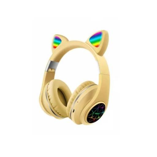 Auricular Vincha Bluetooth Ear-Cat Ledstar M2 / Amarillo