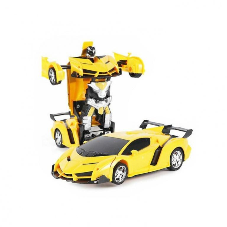 Auto Transformer A Control Remoto Amarillo
